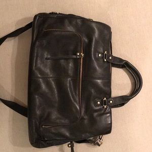 Black leather briefcase/business bag